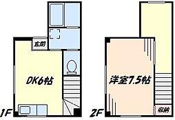 [テラスハウス] 東京都大田区西蒲田3丁目 の賃貸【/】の間取り
