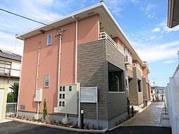 愛知県西尾市丁田町五助の賃貸アパートの外観