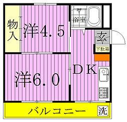 中央マンション[103号室]の間取り