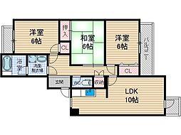 ドムールアヤメ[1階]の間取り