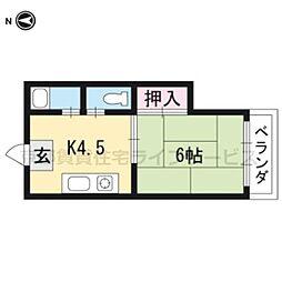 土田ハイツ[103号室]の間取り