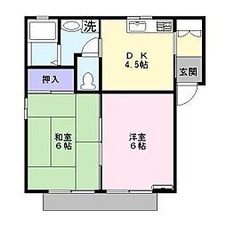 ディアス栗橋 201号室[2階]の間取り