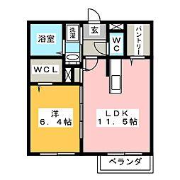 フォレスト見川D棟[1階]の間取り