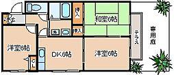 兵庫県神戸市長田区重池町1丁目の賃貸アパートの間取り
