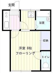 小糸荘[102号室]の間取り
