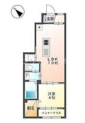 JR山陽本線 西広島駅 徒歩16分の賃貸アパート 1階1LDKの間取り
