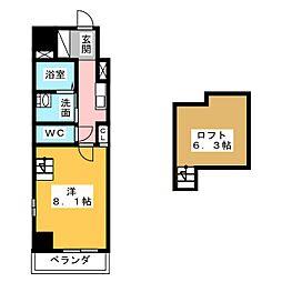Gstyle栄東[2階]の間取り