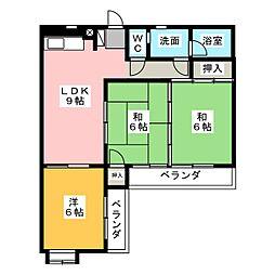 コーポラスシャロー[2階]の間取り