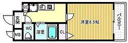 HOPECITY天神橋[6階]の間取り