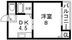 エミネントダイキ[208号室号室]の間取り