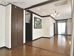 西区伊川谷町有瀬 パナホーム施工中古住宅 4SLDKの居間