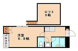 アイランド片江[1階]の間取り