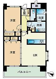 エコルクス赤坂II[11階]の間取り