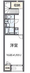 東京都八王子市小比企町の賃貸アパートの間取り
