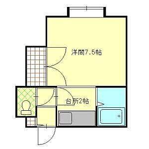 間取り,1K,面積20m2,賃料2.2万円,,,北海道札幌市北区北二十四条西14丁目6-15