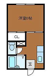 シャトレキノナカ[2階]の間取り