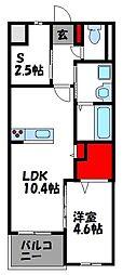 仮)アヴァンセ志免町 4階1SLDKの間取り