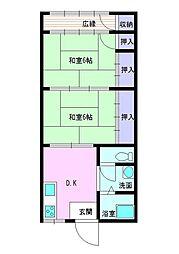 服部アパート[2階]の間取り