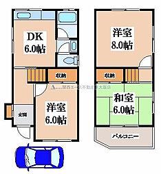 [一戸建] 大阪府東大阪市日下町5丁目 の賃貸【/】の間取り