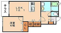 ヌーベル・シンワ C[1階]の間取り