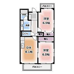 ハイツニューワン[2階]の間取り
