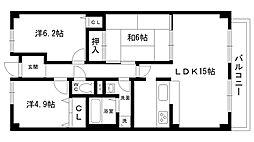 夙川レッチオ・レジデンツァ[3階]の間取り