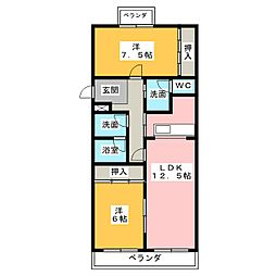 パラドールHARA[3階]の間取り