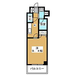 アスヴェル京都二条駅前II[7階]の間取り