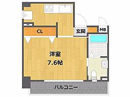 ロイヤルメゾン宝塚[10階]の間取り