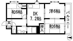 兵庫県伊丹市荻野1丁目の賃貸マンションの間取り