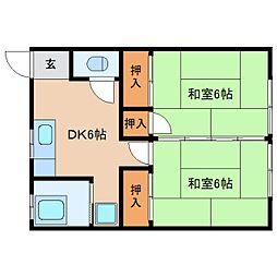 静岡県静岡市駿河区広野3丁目の賃貸アパートの間取り