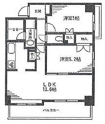 サンティーパーク[3階]の間取り