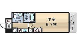 エステムコート阿波座プレミアム[7階]の間取り
