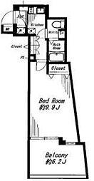 ビバリーホームズ代官山[2階]の間取り