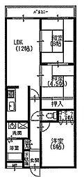 クオレグランデ[2階]の間取り