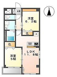 三反田町新築マンション(仮[2階]の間取り