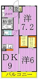 メゾンコンフォール3[1階]の間取り