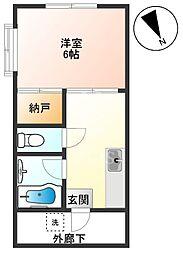 東京都調布市佐須町3丁目の賃貸アパートの間取り