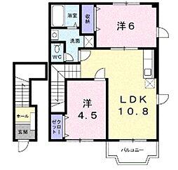 エテルネル生水1[2階]の間取り