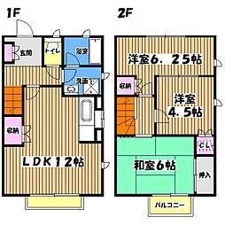 小川邸賃貸住宅[1階]の間取り