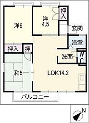 ワイドシャロー[2階]の間取り