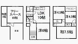 [一戸建] 京都府京都市伏見区下中町 の賃貸【/】の間取り