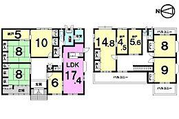 7LDK納戸3か所の大型住宅大家族様におススメの物件です。