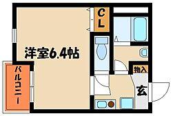 兵庫県明石市西新町1丁目の賃貸アパートの間取り