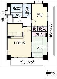 藤マンションII[1階]の間取り