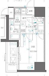 ZOOM川崎EAST 6階1Kの間取り
