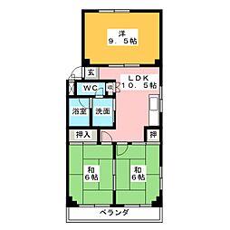 サンホーム愛宕[3階]の間取り