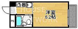 グローシングマンション[3-B号室号室]の間取り