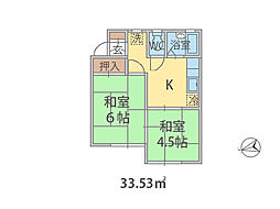 千葉県船橋市夏見台の賃貸アパートの間取り