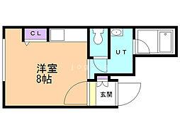 M'sII 2階ワンルームの間取り